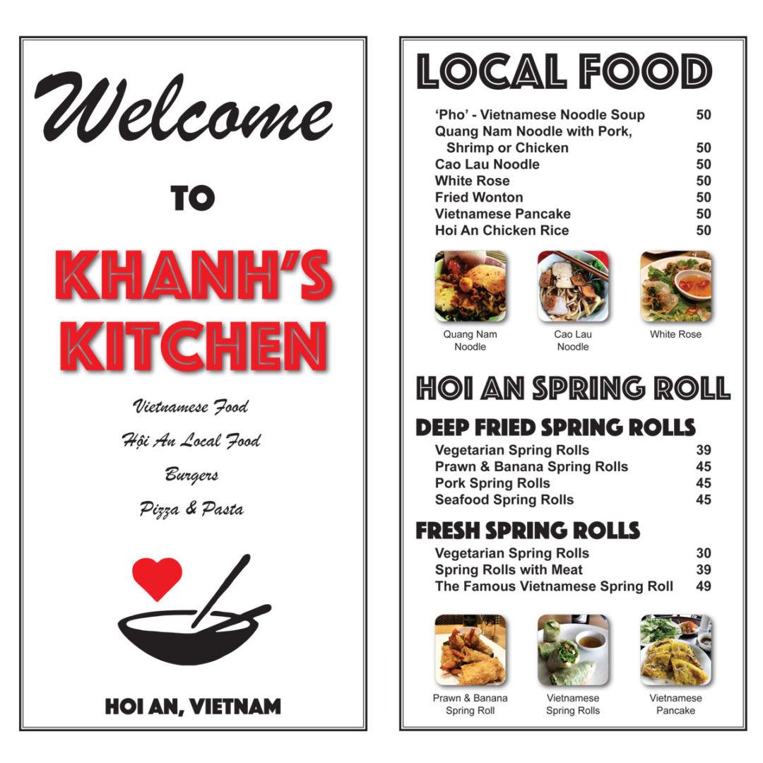 Khanh S Kitchen Menu Design Estalon Industries